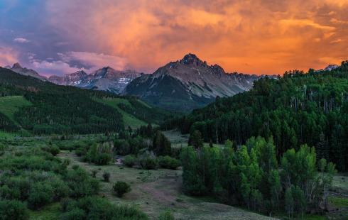 Mt. Sneffels at Sunset - San Juan Mountains, Colorado...Stock id #2547